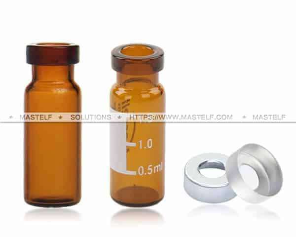 2ml Amber GC Vials, Crimp Top Vials ND11