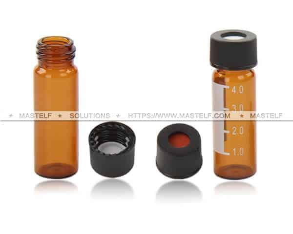 4ml Amber Screw Chromatography Vials, HPLC Vials ND13
