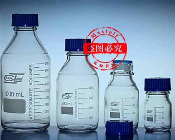 Borosilicate Glass Bottle, GL45 Safety Cap