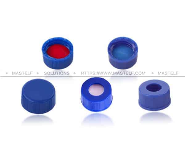 Glass Vials with Screw Caps, 9x1mm PTFE Silicone Septa ND9