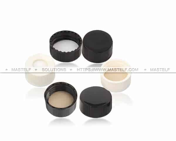 PTFE Silicone Septum and Cap fit Glass Vial ND 24
