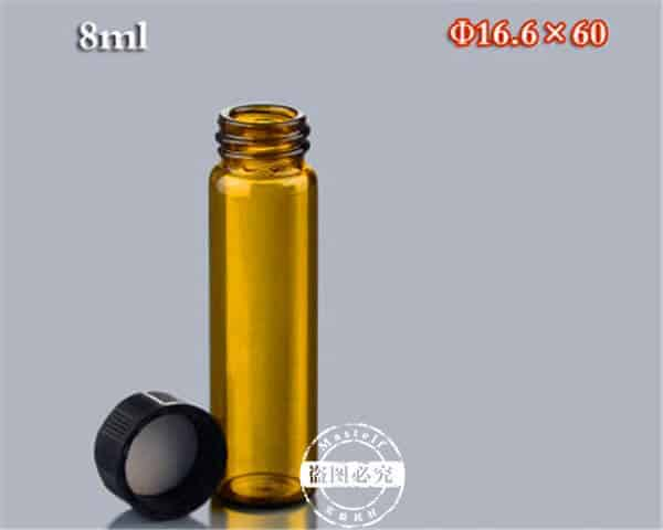 8ml Amber Sample Glass Vials, Storage Vials