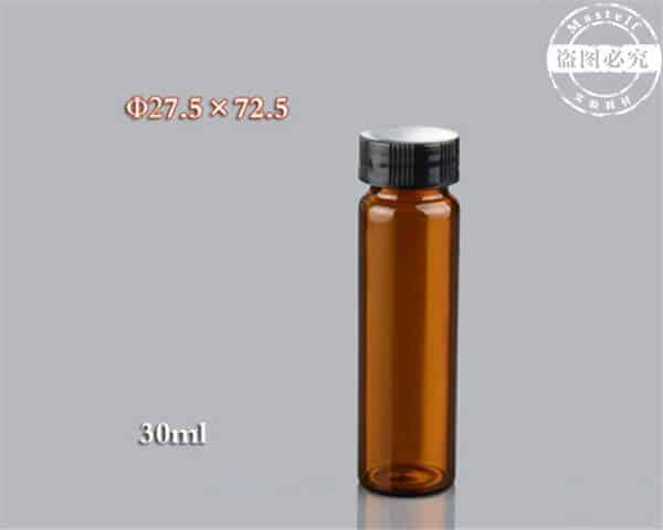 30ml Amber Vial, Glass Sample Vial ND24