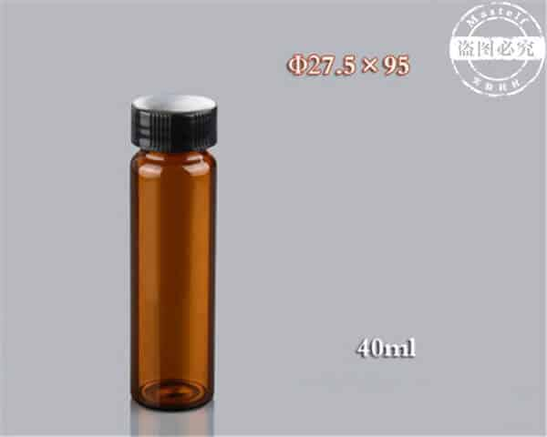 40ml Glass Vial, Amber Glass Sample Vial ND24