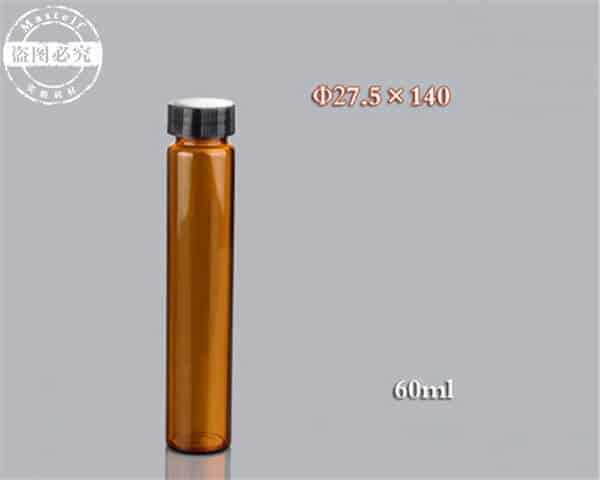 60ml Wholesale Glass Vials, Amber Glass Sample Vial ND24