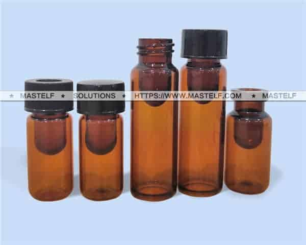 0.2ml-0.5ml Amber Screw and Crimp Inner Recovery Vials